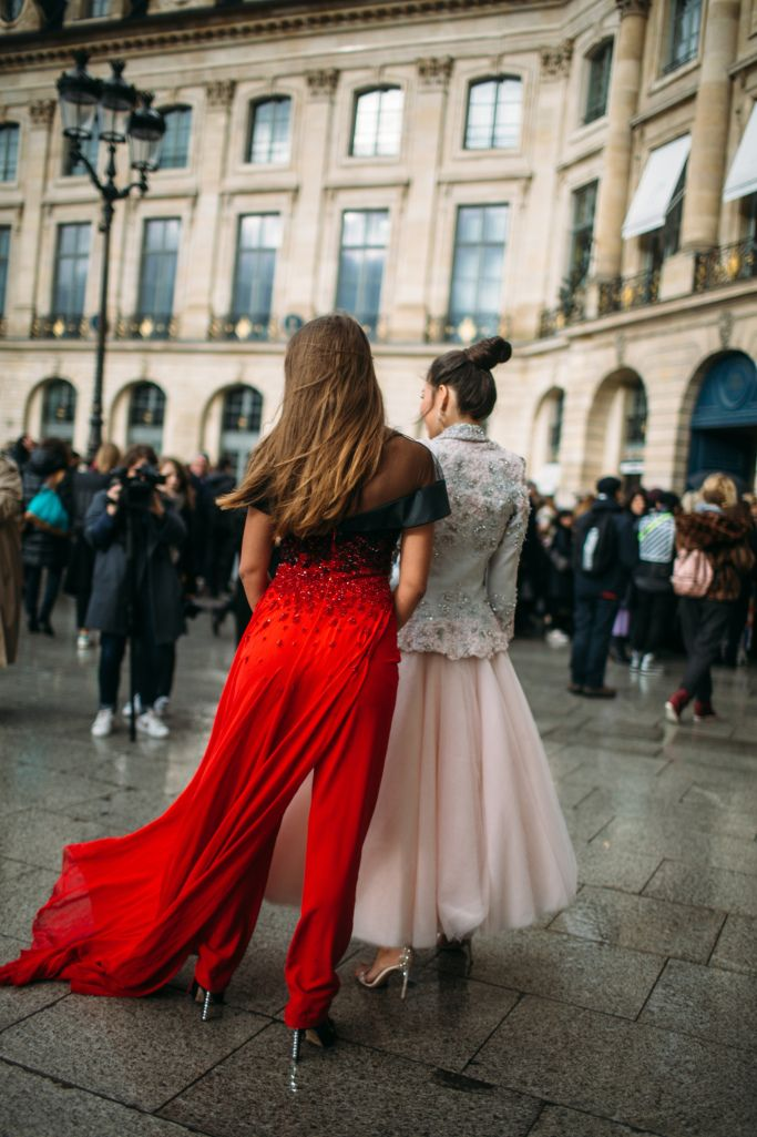 Street style at Paris Haute Couture Week Spring 2018