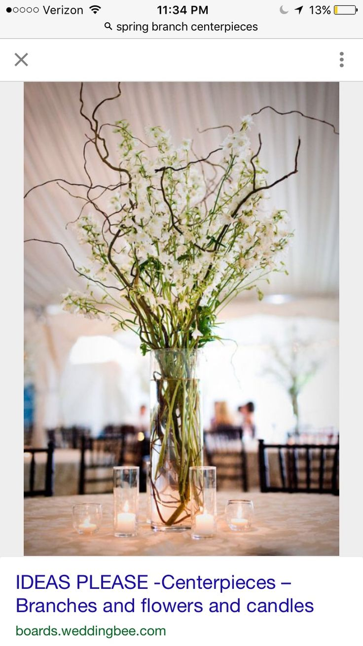 95 best flowerscenterpiecesetc images on pinterest table branches or curly willow adds height to any centerpiece reviewsmspy