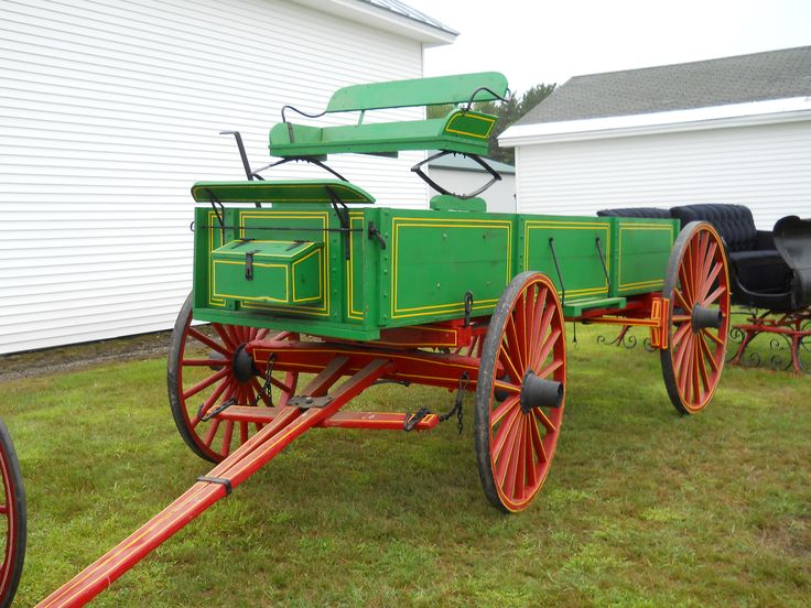 Tractor Pulled Wagon : Best images about horse buggies carts and wagons on