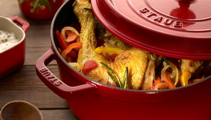 STAUB  Basque Chicken recipe