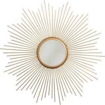 Miroir Soleil, métal, doré, Diam. 55 cm | Leroy Merlin