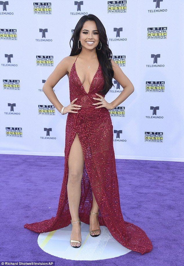 becky g stuns at the latin american music awards