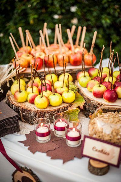 Fall Wedding Ideas - DIY Caramel Apple Bar | Wedding Planning, Ideas & Etiquette | Bridal Guide Magazine