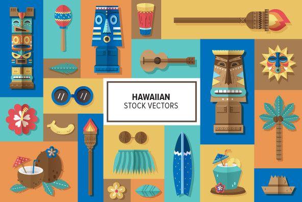 Tiki - Hawaiian Vector Stock http://www.youworkforthem.com/vector/E2370/hawaiian