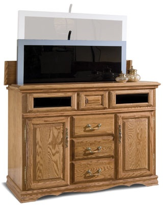 with the flick of a remote the ul approved lift raises your plasma or lcd
