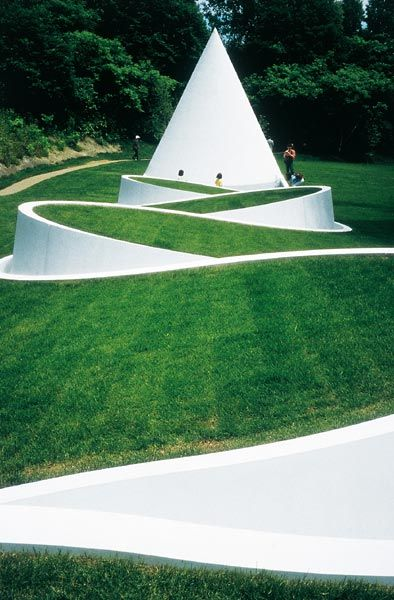 Way to the Hidden Garden, Sapporo Open Air Sculpture Park, Sapporo, Japan. by Dani Karavan
