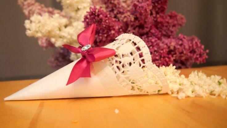 Wedding lacy cone
