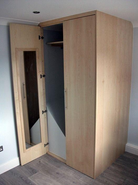 wardrobe built over stairwell bulkhead