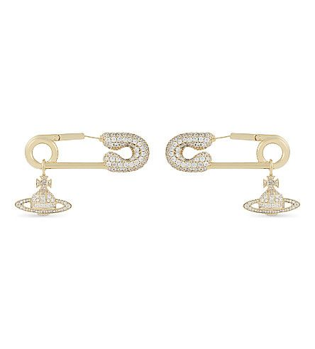 VIVIENNE WESTWOOD JEWELLERY Clotilde embellished pin earrings