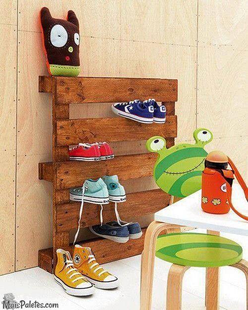 Arrumar os Sapatos em paletes