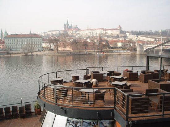 Marina Ristorante Prague has good views and good food.  Reserve a table on the deck or by a window for views.