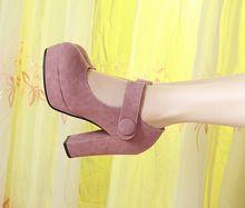 nieuwe 2014 vrouwelijke sexy ronde neus rode onderkant hoge hakken schoenen mary jane vrouw kleding schoenen vrouwen pompen ol schoenen partij schoenen(China (Mainland))