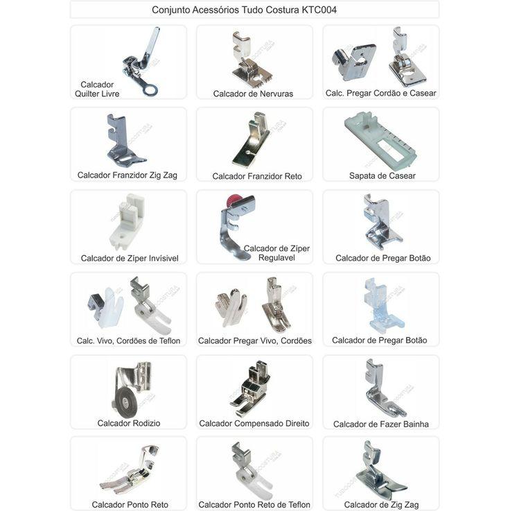 Kit Conjunto Calcadores Costura Domésticos - 18 Itens - R$ 68,50 + FRETE 15,50