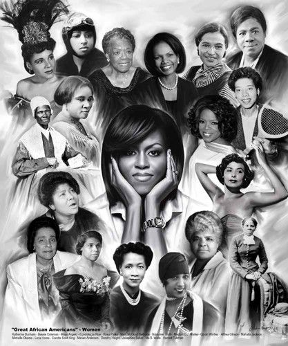 Great African Americans Women - 24x20 print - Wishum Gregory – It's A Black Thang.com