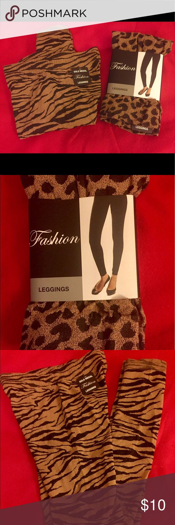 FASHION TIGER/CHEETAH/LEOPARD PRINT LEGGINGS Sizes S - M- L/XL available. Sold separately or bundle for discount.  Please specify size and style for availability before purchasing. Mix and match.  95% Polyester / 4% Spandex. Gold Medal Pants Leggings