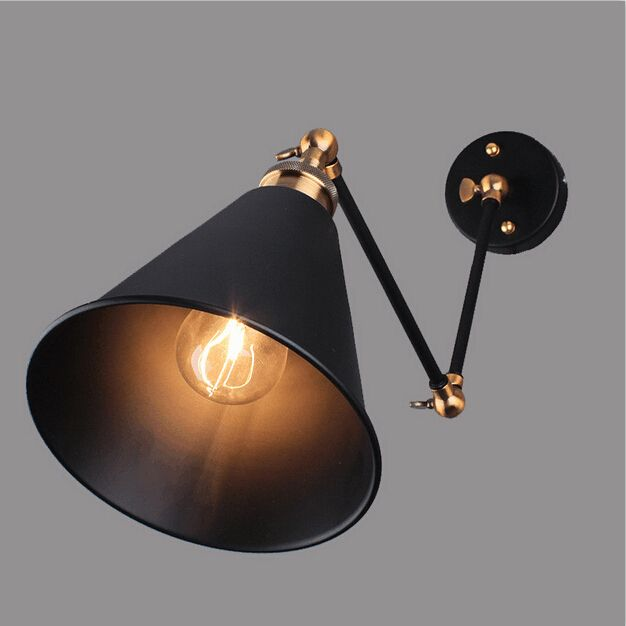 Industrial Vintage Wall Lamps Simple style Wall Lights LOFT Little Umbrella Double Arm Bedside Lamp Restaurant Light Fixtures #Affiliate