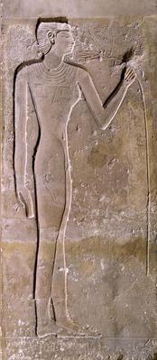 Relief de femme respirant un lotus 150 cm H  Ancien Empire, 5e dynastie Musée du Louvre