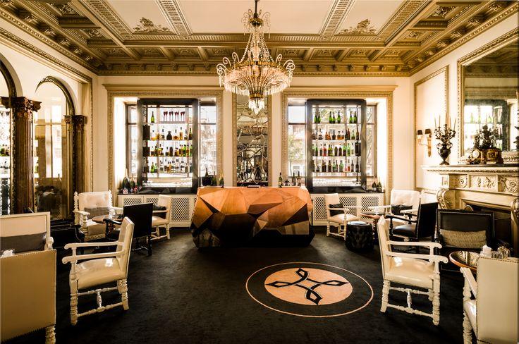 Hotel Infantesagres bar in Porto - open to the public.  Showcasing modern Boca do lobo furniture. www.mcgunnmedia.com