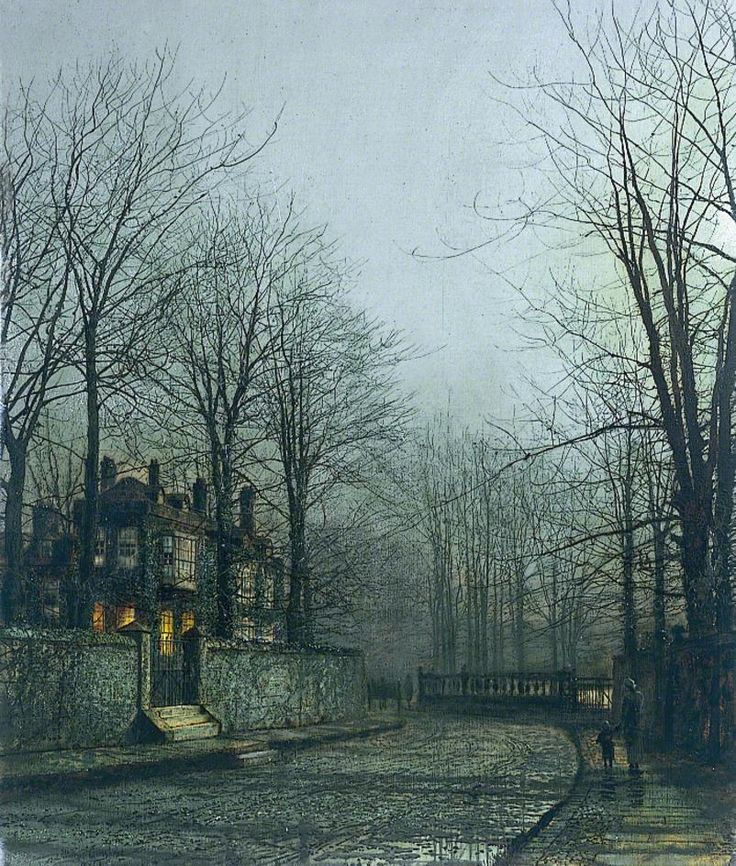 Silver Moonlight  by John Atkinson Grimshaw, Date painted: 1886    Collection: Kirklees Museums and Galleries