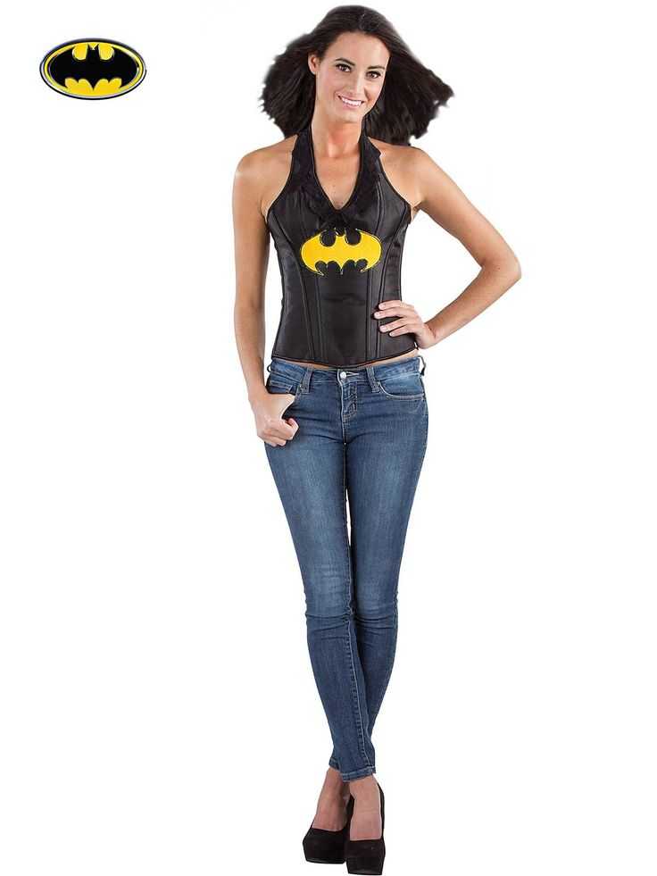 Women's Batgirl Faux Leather Corset! See more #costume accessories at CostumeSuperCenter.com