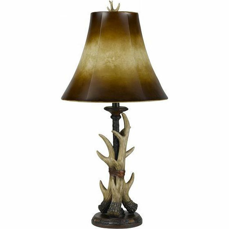 Deer Antler Table Lamp | Living Room With This Faux Antler Table Lamp. The  Deer