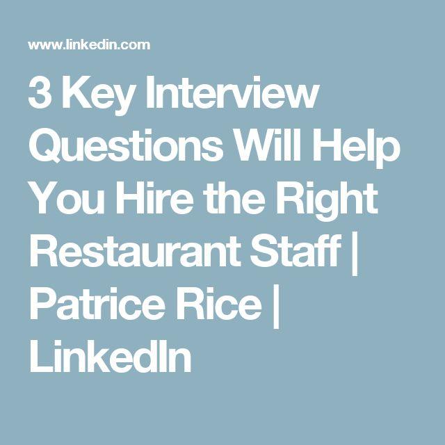Las 25 mejores ideas sobre Restaurant Interview Questions en Pinterest - live career com
