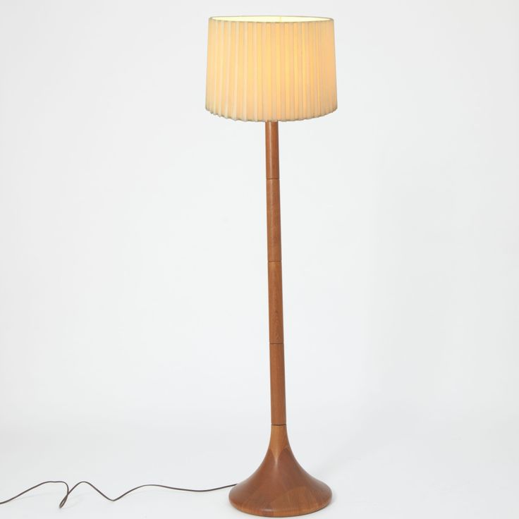 Designed by LISBETH BRAMS  DENMARK  Circa 1960    Very rare teak floor lamp in mint condition designed by Lisbeth Brams.