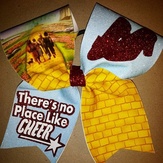 There's no place like cheer Cheer bow by bowzingabows on Etsy