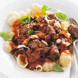 Recept - Pasta met tomatensaus en worstjes - Allerhande