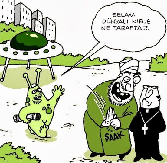 Selam dünyalı kıble ne tarafta? #karikatür #mizah #matrak #komik #espri