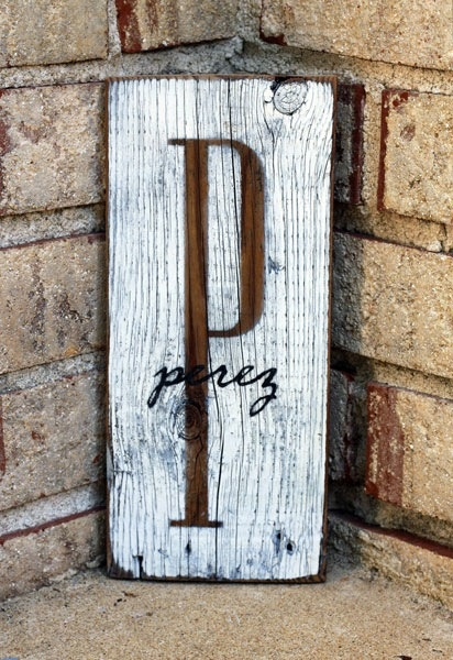 Yes front porch sign...      first or last name sign