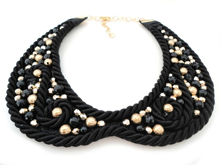 ON SALE  Detachable Beaded Rope Peter Pan Collar by ChichiKnots, $48.00