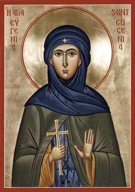 St. Eugenia Orthodox Icon » Mounted Orthodox Icons of E-F Saints » ArchangelsBooks.com