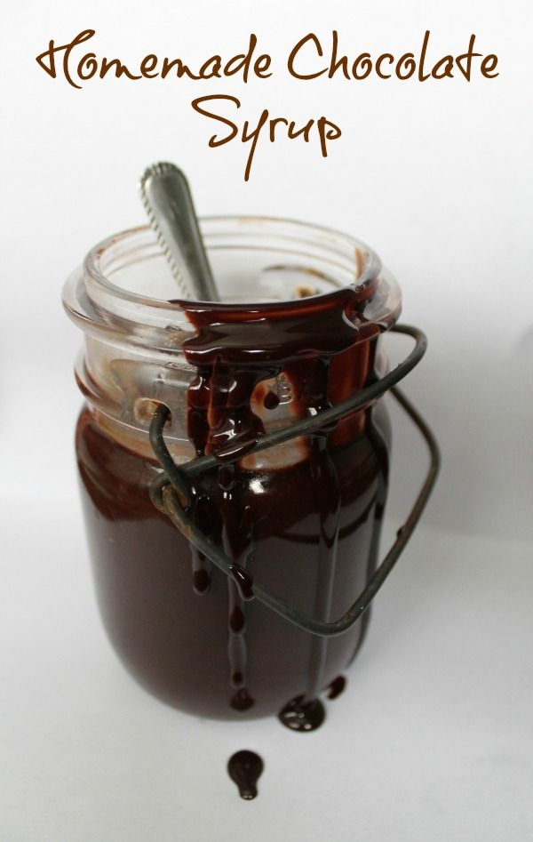 Homemade Chocolate Syrup with 4 simple ingredients... Warm it up for hot fudge, stir it into hot milk, eat it with a spoon!