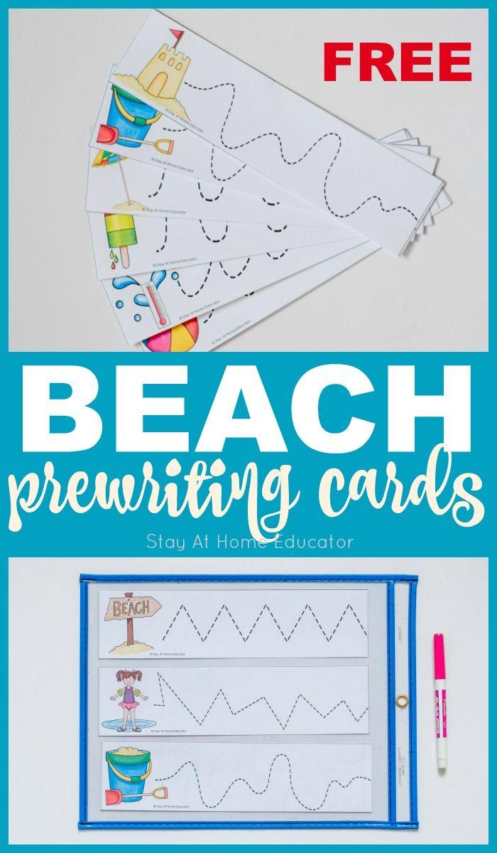 5 Activities To Teach Writing Skills Using These Free Beach Theme