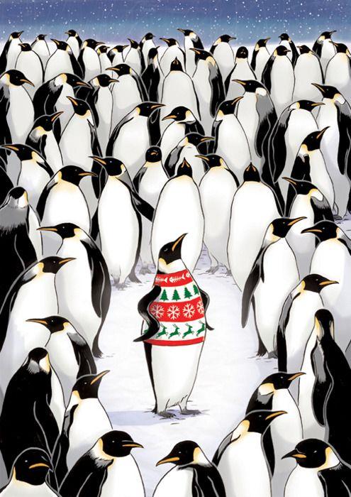 Outstanding CHRISTMAS penguin