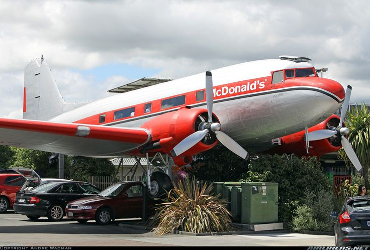 I always knew there was a reason I loved New Zealand.  McDonald's Douglas DC-3(C) 	 Taupo New Zealand, December 30, 2013