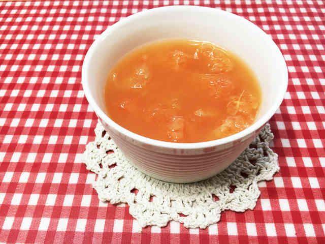 グレープフルーツジュースde寒天ゼリー