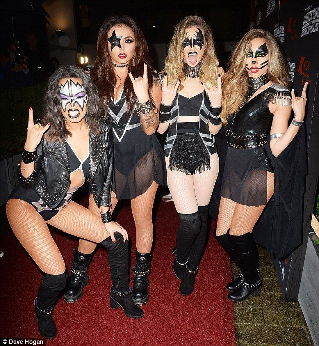 Rocking the party! Little Mixhit Kiss FM's Haunted House Party at Wembley Arena in London...