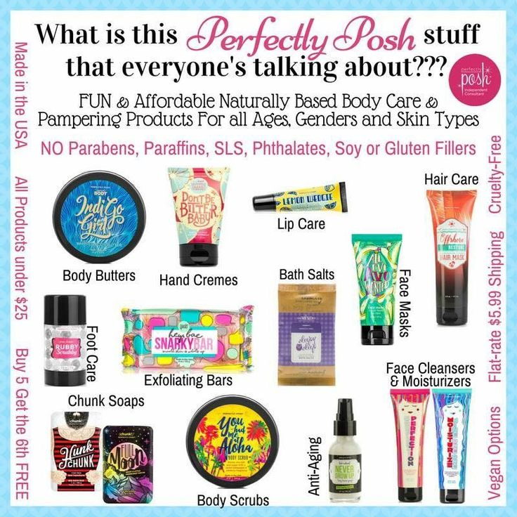 If you haven't tried Perfectly Posh yet, you're missing out! Pampering products that are fun AND good for your skin! poshingwithlindsey.com