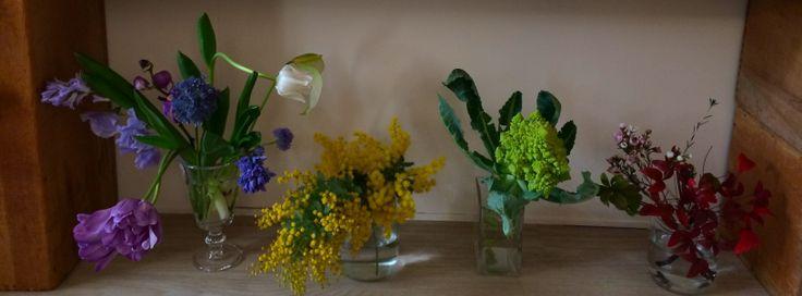 好きな一輪挿しに好きなお花をいけてみて楽しむ時間を
