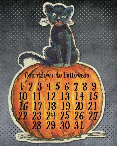 31 Days of Halloween {Day 7} Halloween Countdown Printable!