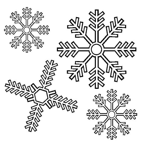 lovely snowflakes coloring page - Snowflake Coloring Pages Kids
