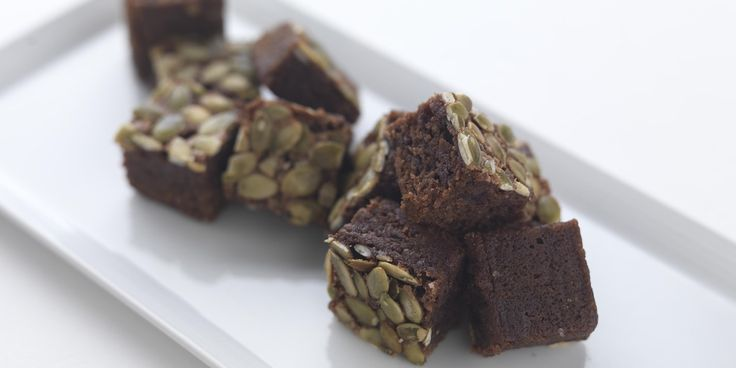 Dark Chocolate and Sunflower Seed Brownies - Great British Chefs