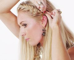 How to braid party hair