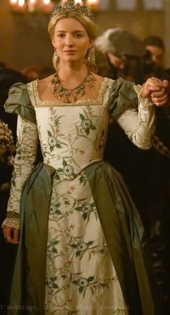 Jane Seymor green gown
