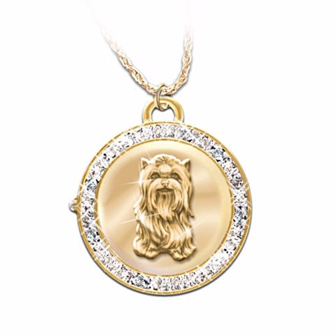 37 best yorkshire terrier lover gifts images on pinterest yorkies yorkie reversible watch pendant necklace aloadofball Gallery