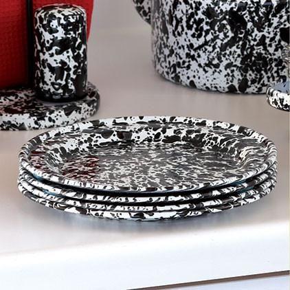 Crow Canyon Home ~ Enamelware ~ Flat Salad Plate
