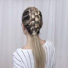 """✖️ZIPPER BRAID✖️ Preview for this amazing braidLink in bio for the full tutorial on YouTube Music """"Final song"""" by MØ"""