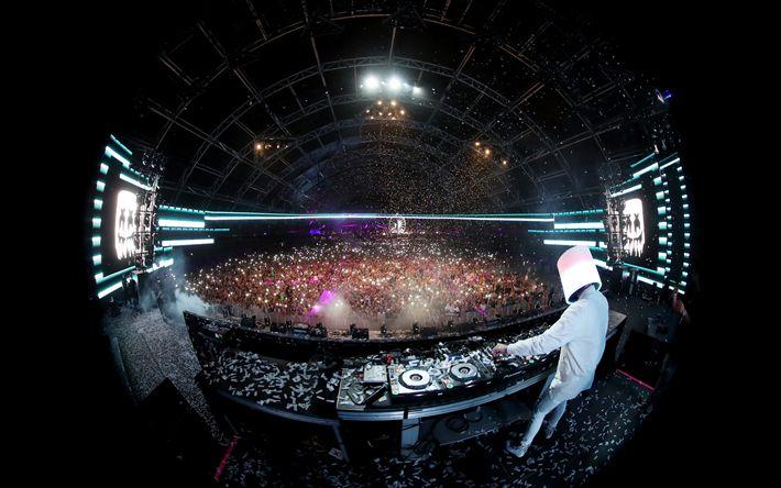 Lataa kuva Marshmello, DJ, night club, konsertti, 4k, progressiivinen house